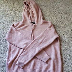 Side slit Sweater with hood